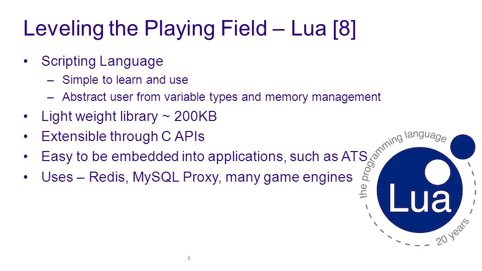 Leveling the Playing Field – Lua [8]